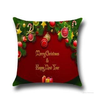 عيد ميلاد سعيد وسادة القضية يغطي وسادة للحصول على أريكة مريحة سانتا كلوز مطبوعة وسادات أداة الديكور القطن