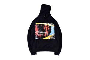 Fashion Rapper Album Graffitti Long Sleeve Pullover Streetwear Teenagers Hooded Sweatshirts Hip Hop Mens Designer Hoodies