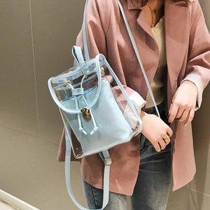 Summer Transparent Backpack Jelly Mini Women Shoulder Bags School Backpack For Teenager Girls Mochila Female Bagpack 2020