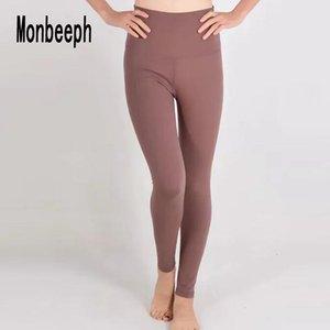 monbeeph Alta vita magro pantalone pantaloni pantaloni di modo per le donne Caviglia-Lunghezza pantaloni Y200114