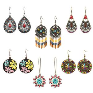 6 Pairs Set Hot Selling Drop Earring Set Dangle Earrings For Women 2019 Korean Statement Trendy Bohemian Heart Boho Wholesale