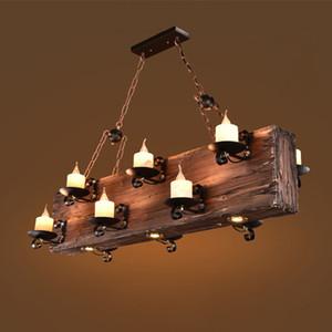 Retro Industrial Wind Pendant Light Creative Nostalgic Bar Coffee Restaurant Pendant Lamp Personality Clothing Store Boat Wood Hanging Light
