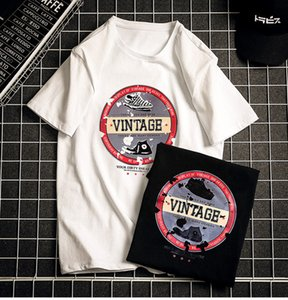 Men'sT-shirt 2019 Summer New Loose Shirt Men's Fashion Street Style Trend Top T-shirt Men's Casual Printed Clothes Plus Size S-6XL Wholesale