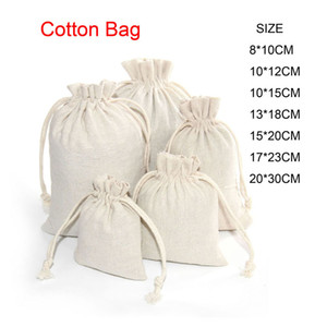 Baumwollleinentragetasche Kleine Muslin Armband Geschenke Schmuck Verpackungsbeutel Netter Tunnelzug-Geschenk-Beutel-Beutel-Süßigkeit-Speicher-Beutel für Kinder