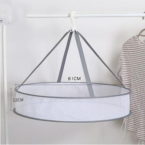 Vêtements de séchage Panier Plié sèche-linge suspendu Sweater Mesh Blanchisserie Net Mesh panier Dryer Net Multi-usages racks 61 * 12cm Hanging ZYQ439