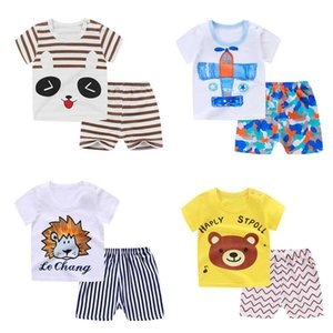 Kids Home Clothing Baby Boys Girls Summer Outfits Set T Shirt + Shorts 2Pcs Cartoon Bear Animal Printed Suit Sleepwear Clothes
