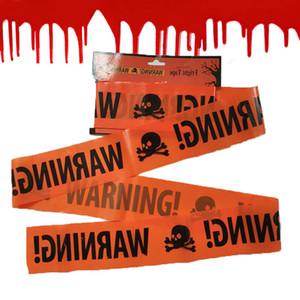 Halloween Warning Tape Sinais Dia das Bruxas Props Janela Prop Partido Perigo linha Aviso 580x8.5cm Halloween Decoração KLE426