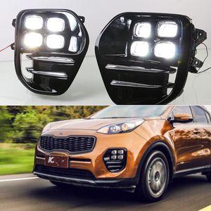 1 Paar Tagfahrlicht Tagfahrlicht Nebelscheinwerfer Car Styling Day Licht für KIA Sportage KX5 2016 2017 2018