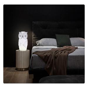 1 Вт LED Night Light Baby Сова Форма Белый Теплый Белый Свет ПВХ Настольная Лампа Крытый Декоративный Ночник для Детская Комната Партия Декор