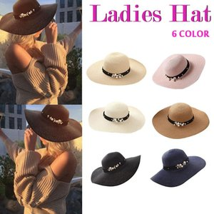 New Women Beach Hat Straw Jazz Sunshade Fedora Hats Gangster Cap Women Hat Beach Summer Hats For Elegant Chapeau Femme