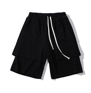 Calças Calças Loose Design Solto S-XL Double Ver Designer Shorts Shorts Casual Mens Fitness Layer Street Fashion Djsin