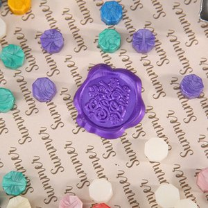 100pcs Octagon Fire Painting Pill Retro Sealing Wax Grain for Hand Account Support Dropshipping Candles