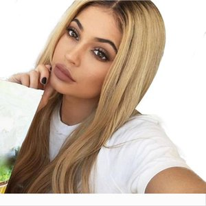 Straight Pre Plucked Lace Front Human Hair Wigs With Baby Hair 8-24 Inch Ombre Remy Hair Glueless Brazilian Wigs 130 Density