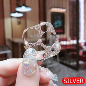 Hot selling Rhinestone Glitter Camera Lens film Protector Case Diamond Full Lens Screen Protective Cover For iphone 11 Pro Max
