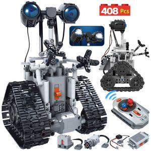 408 PCS City Creative RC Rob Robot Electric Block Building Brinquedos Technic Remote Control Intelligent Tijolos Assemblage para crianças