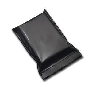 200Pcs / Lot 8 * 12см черный Пластиковые Ziplock сумка Пакет Самостоятельная печать Многократно закрывающаяся на молнии Zipper Poly Мешочек питание Закуски хранения пакет