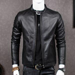 2019 echtes Leder Jacke Männer Schaffell Mantel für Männer Plus Size Echt Kuh Leder Jacken Chaqueta Cuero Hombre MT681 KJ2283