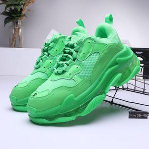 avec la boîte 2019 pour hommes et femmes Chaussures Casual Triple S Dégagez Sole Marque Noir Blanc Vert de Formateurs Designer 36-45