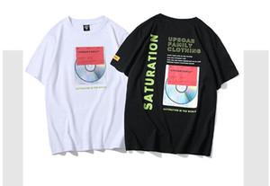 la migliore vendita 2019 nuova moda di marca stampa OFF T-shirt per gli uomini e le donne amanti sciolto BF vento O collo casual a maniche corte tees