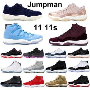 Novas 11s das mulheres dos homens tênis de basquete alta herdeira noite marrom pantone concórdia 45 criados Space Jam homens desportivos formadores sneakers