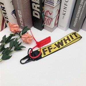 Off-White belt Leinwand Handy-Schlüsselkette der europäischen und amerikanischen Gezeiten Markenjeans mit Handkamera Anhänger weißen Gürtel