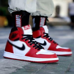 Cair 1 jordàn 1 1 High OG Bred Toe Chicago Scotts X Banned Game Royal Basketball Shoes Men 1s Top 3 Shattered Backboard Shadow EUR36-46