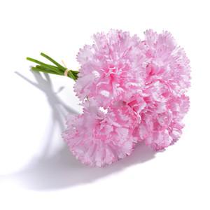 5 رؤساء الطازجة الاصطناعي زهرة قرنفل الحرير زهرة النباتات وهمية ل diy عيد الأم زهرة الزفاف الرئيسية الطرف الديكور