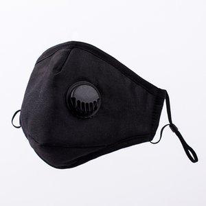 Respirador com máscaras máscara protectora grosso de algodão com dois filtros de carvão activo elástico laço boca doméstico lavável designer de válvula com a caixa