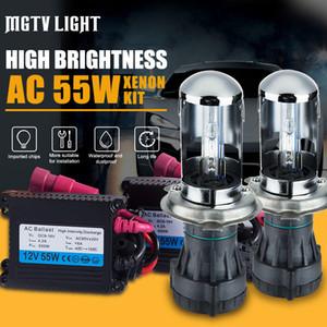 MGTV 라이트 HID 제논 바이 논 HID 키트 AC 12V 55W H4 바이 제논 램프 H4 하이 / 로우 빔 전구 3000K 4300K 5000K 6000K 8000K 자동차 헤드 라이트