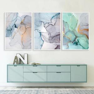 Poster Dekoratif Mermer Özet Tuval Alkol Mürekkep Posterler Boyama ve Baskılar Duvar Resimleri Geometrik Salon Dekoru yazdır