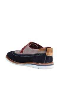 Pearl Genuine Leather Navy Blue Men 'S Shoes 120118549380