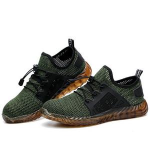 HEFLASHOR Indestructible Ryder Schuhe Männer und Frauen mit Stahlkappe Air Sicherheitsstiefel pannensicheren Arbeits Turnschuhe Breathable Schuhe