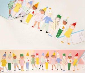 Happy Birthday Greeting Card Bambini mano nella mano Carta di invito regalo Carta di benedizione fai da te creativo con busta
