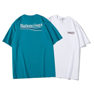 New Oversize Designer T-Shirts Summer Fashion Mens Womens Luxury Top Tees Brand T-shirt Short Sleeves Loose Letter Print T Shirt C8 2060205V
