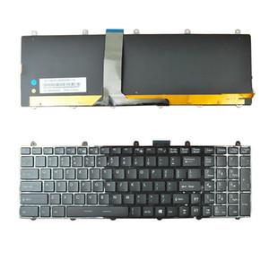 NOVO Inglês Laptop teclado para MSI GT60 GT70 GT780 GT783 GX780 PRETO moldura preta pequeno Enter (Full Backlight colorido, WIN8) Teclado US