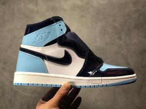 2020 Nova Patente 1 High OG UNC WMNS ASG Obsidian Blue Chill Branco unisex tênis de basquete 1s All-Star DesignerSneakers Sneakers Jogo