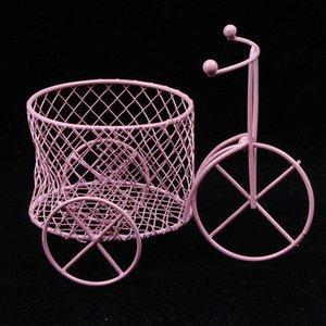 귀여운 철 세발 자전거 미술 장식 웨딩 설탕 쥬얼리 컨테이너 스토리지 홀더 사탕 선물 상자 홈 스토리지