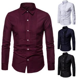 Men's Shirt 2019 Spring and Autumn New Casual Slim Long Sleeve Shirt