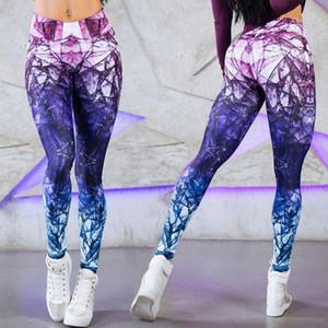 Mulheres Yoga Pants impressão 3D Compressão Elasticidade de Fitness Sports Leggings Tights Menina que funciona Sportswear Mulher Treinamento Calças Sexy