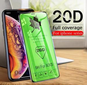 Cristal 20D de borde curvado protectora para el iPhone Mini 12 11 Screen Pro Max Xr X X protector para el iPhone SE 2020 7 8 Plus 6s 6 Glass Film