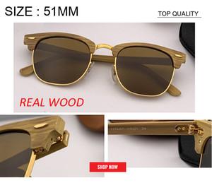 2020 nouveau style design en bois de qualité supérieure Factory Lunettes de soleil en bois UV400 bambou marque femmes hommes de lunettes de soleil avec accessores