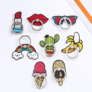 Free Ring DHL Fashion Cellphone Détenteurs Cartoon arc-en-Cactus portable Creative cas Stands bricolage universel pour téléphone Mounts pas cher