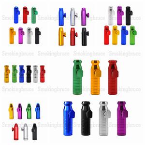 Snuff Pippotto serie della pallottola Rocket in lega di alluminio da fiuto Pippotto Sniffer Dispenser nasale Smoking Pipe mano tubo di metallo Tabacco Tubi di fumo