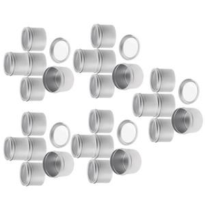 25 шт Алюминий Tin баночки (100 мл) Косметические контейнеры Круглые жестяные банки с винтовой крышкой Cap для DIY ремесел, косметика, Salve, свечи, путешествия хранения