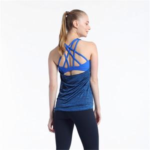 Donna 2-in-1 Serbatoio con Bra Loose Fit Gym Canotta Donne allenamento Tops Yoga Top Womens Top allenamento
