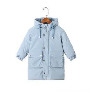 HYLKIDHUOSE Niño por la chaqueta de invierno 2019 Niñas Niños Pato blanco abajo cubre Outwear bebé Niños ropa al aire libre con capucha Espesar larga caliente Sno