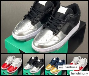 Sup SB Dunk Low Running Shoes Mens Womens Black Silver Red Dark Blue Gold Sports Trainers Sneakers des Chaussures Zapatos