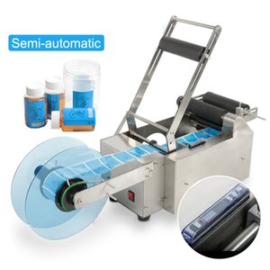 MT-50 Semi-automatic Round Bottle Labelling Machine Stick Mark Labeller Manual Labeling Machine For Plastic Glass Bottles