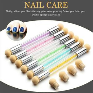 Nail Art gradient Brosses Eponges Ombre Designs Nail Gel Paillettes Peinture acrylique Dessin polonais manucure outil