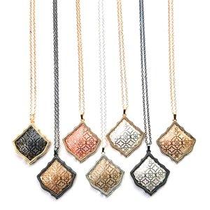 2020 Горячий продавать Cute выдалбливают Kite ожерелье биколор девушки подарка способа оптовой продажи ювелирных изделий
